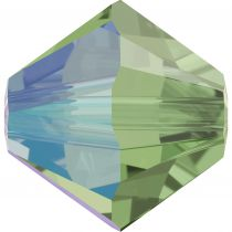 Toupie 5328 Erinite Shimmer 4mm x50 Cristal Swarovki