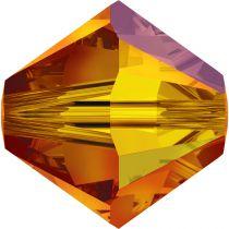 Toupie 5328 Fireopal AB 4mm x 50 Cristal Swarovki