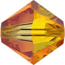 Toupie 5328 Fireopal AB2X 4mm x 50 Cristal Swarovki
