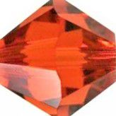 Toupie 5328 Indian Red 4mm x 50 Cristal Swarovki
