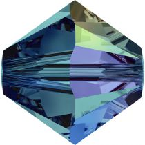 Toupie 5328 Indicolite AB 4mm x 50 Cristal Swarovki