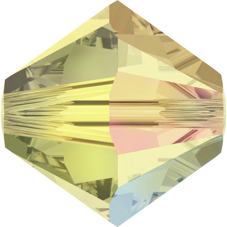 Toupie 5328 Jonquil AB 6mm x1 Cristal Swarovski