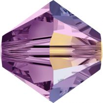 Toupie 5328 Light Amethyst AB 4mm x 50 Cristal Swarovki