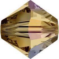 Toupie 5328 Light Colorado Topaz AB 6mm x1 Cristal Swarovski