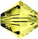 Toupie 5328 Light Olivine 4mm x 50 Cristal Swarovki