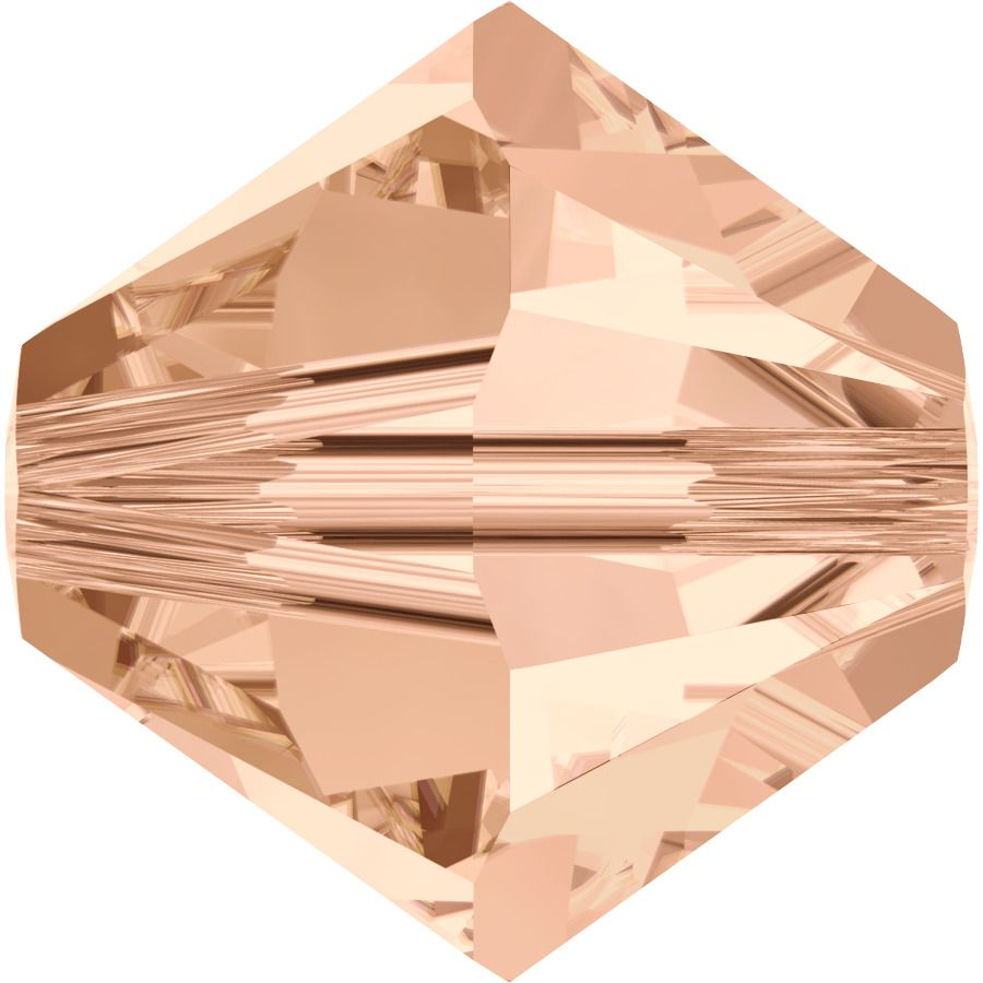 Toupie 5328 Light Peach 4mm x 50 Cristal Swarovki