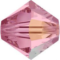 Toupie 5328 Light Rose AB 4mm x 50 Cristal Swarovki