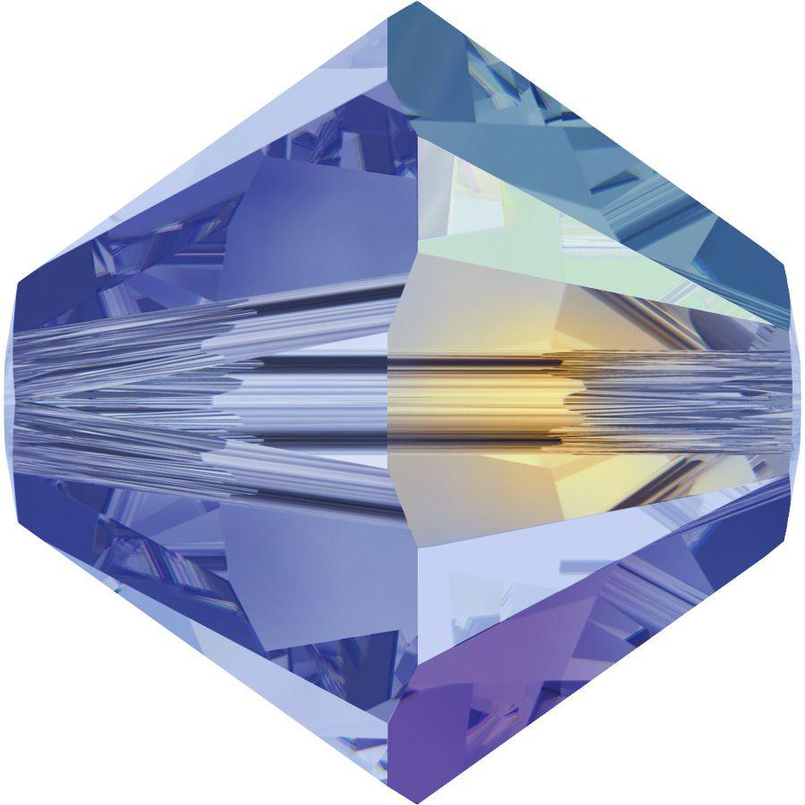 Toupie 5328 Light Sapphire AB 6mm x1 Cristal Swarovski