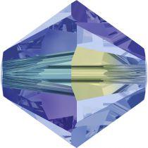 Toupie 5328 Light Sapphire AB2X 4mm x50 Cristal Swarovski