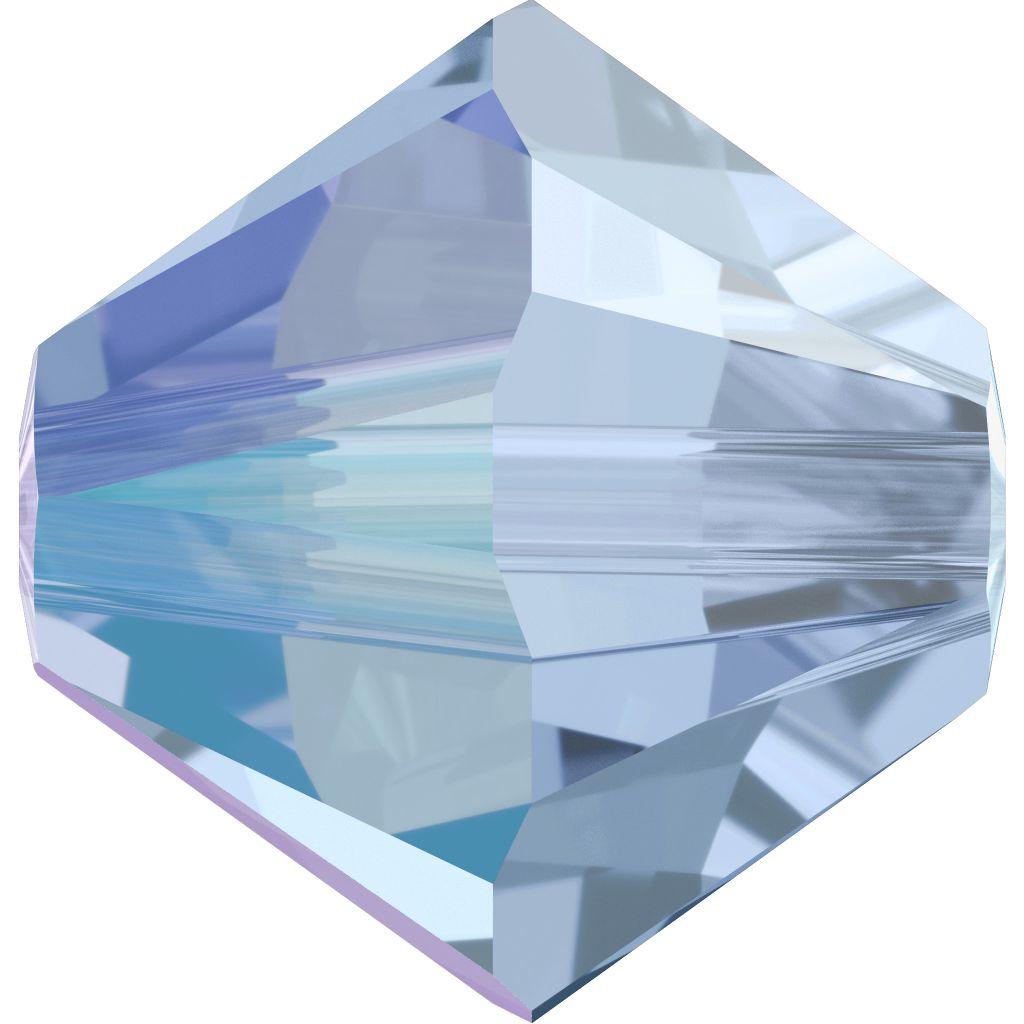 Toupie 5328 Light Sapphire Shimmer 3mm x50 Cristal Swarovki