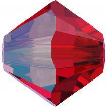 Toupie 5328 Light Siam Shimmer 6mm x1 Cristal Swarovki