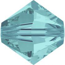 Toupie 5328 Light Turquoise 4mm x 50 Cristal Swarovki