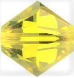 Toupie 5328 Lime 4mm x 50 Cristal Swarovki