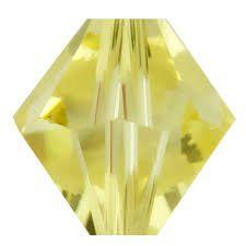 Toupie 5328 Lime AB 6mm x1 Cristal Swarovski