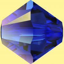 Toupie 5328 Majestic Blue AB 4mm x50 Cristal Swarovki