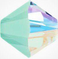 Toupie 5328 Mint Alabaster AB 4mm x 50 Cristal Swarovki