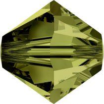 Toupie 5328 Olivine 5mm x20 Cristal Swarovski