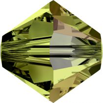 Toupie 5328 Olivine AB 4mm x 50 Cristal Swarovki