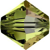 Toupie 5328 Olivine AB 6mm x1 Cristal Swarovski
