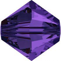 Toupie 5328 Purple Velvet 4mm x 50 Cristal Swarovki