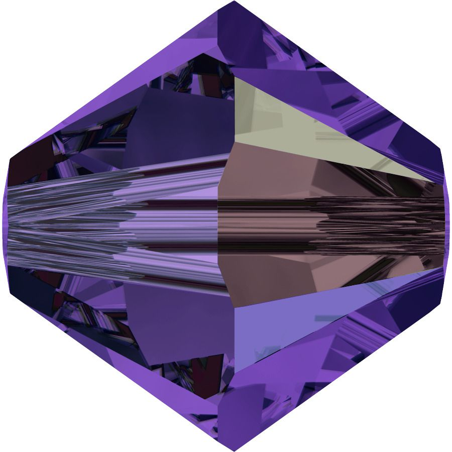 Toupie 5328 Purple Velvet AB 4mm x 50 Cristal Swarovki