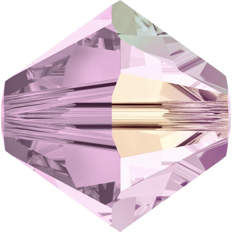 Toupie 5328 Rosaline AB 4mm x 50 Cristal Swarovki
