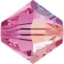 Toupie 5328 Rose AB 6mm x1 Cristal Swarovski