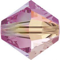 Toupie 5328 Rose AB2X 4mm x50 Cristal Swarovski