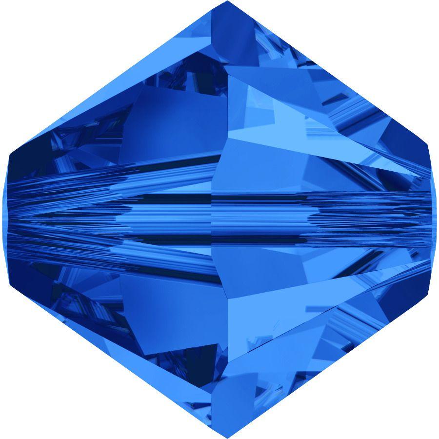 Toupie 5328 Sapphire 4mm x 50 Cristal Swarovki