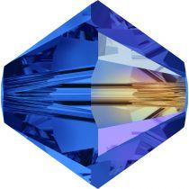 Toupie 5328 Sapphire AB 4mm x 50 Cristal Swarovki