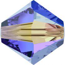 Toupie 5328 Sapphire AB2X 4mm x50 Cristal Swarovski
