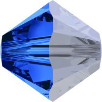 Toupie 5328 Sapphire Satin 5mm x20 Cristal Swarovski