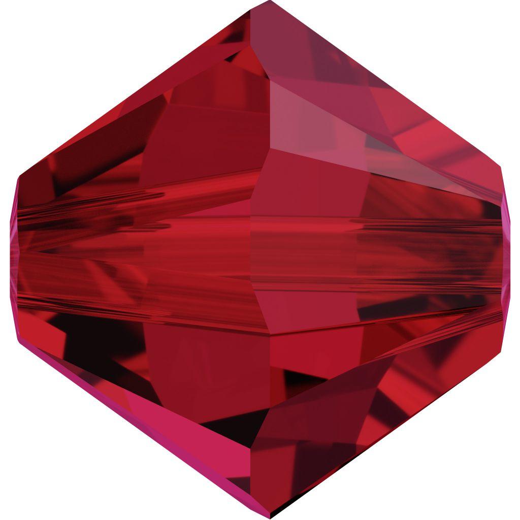 Toupie 5328 Scarlet 4mm x 50 Cristal Swarovki