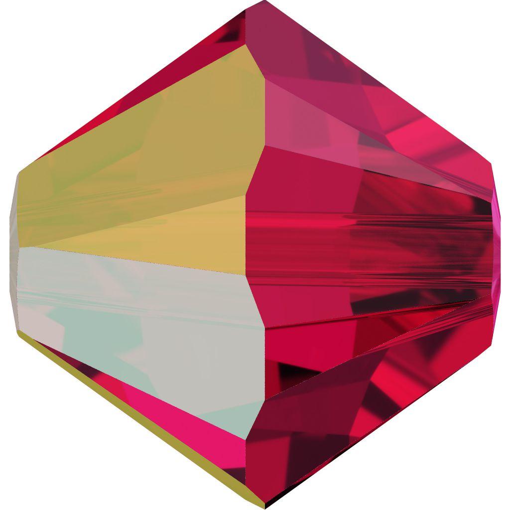 Toupie 5328 Scarlet AB 3mm x 50 Cristal Swarovki