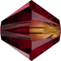 Toupie 5328 Siam AB 4mm x 50 Cristal Swarovki