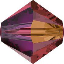 Toupie 5328 Siam AB2X 4mm x50 Cristal Swarovski