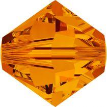 Toupie 5328 Tangerine 4mm x50 Cristal Swarovski