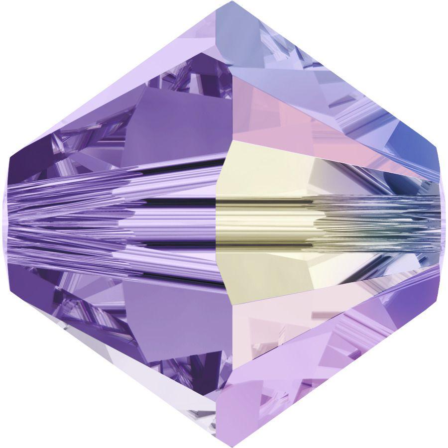 Toupie 5328 Tanzanite AB 6mm x1 Cristal Swarovski