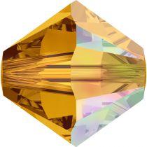 Toupie 5328 Topaz AB 6mm x1 Cristal Swarovski