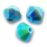 Toupie 5328 Turquoise AB2X 4mm x50 Cristal Swarovski
