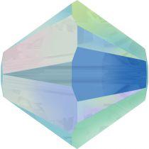 Toupie 5328 Turquoise AB2X 6mm x1 Cristal Swarovski
