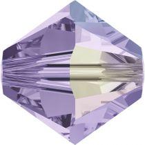 Toupie 5328 Violet AB 4mm x 50 Cristal Swarovki