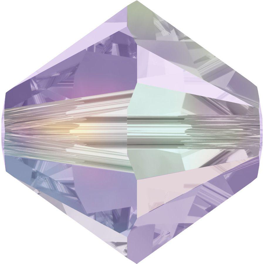 Toupie 5328 Violet AB2X 4mm x50 Cristal Swarovski