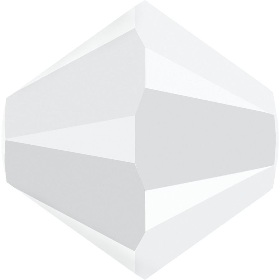 Toupie 5328 White Alabaster AB 4mm x 50 Cristal Swarovki