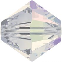 Toupie 5328 White Opal AB 3mm x 50 Cristal Swarovki