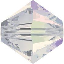 Toupie 5328 White Opal AB 4mm x 50 Cristal Swarovki