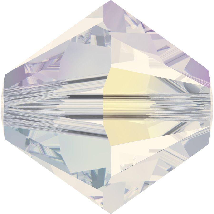 Toupie 5328 White Opal AB2X 4mm x50 Cristal Swarovski