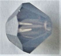 Toupie 5328 White Opal Metallic Silver 4mm x 50 Cristal Swarovki
