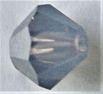 Toupie 5328 White Opal Sky Blue 6mm x1 Cristal Swarovski