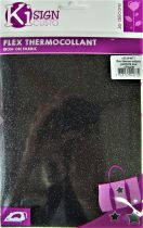 Transfert thermocollant noir pailleté 15x20 cm